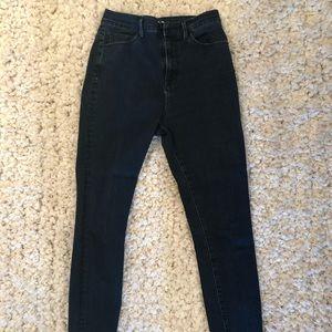 BDG Super high rise dark blue skinny jeans